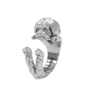 DOG FEVER - HUG RING - shih tzu silver hug ring