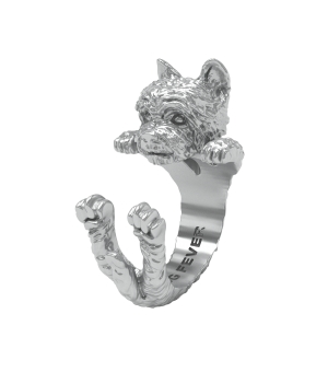DOG FEVER - HUG RING - yorkshire silver hug ring