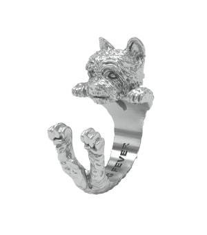 DOG FEVER - HUG RING - yorkshire silver hug ring