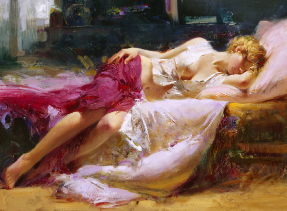 Dreaming in Color by Artist Pino Daeni Artwork