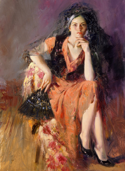 Dreaming in Madrid by Artist Pino Daeni Artwork