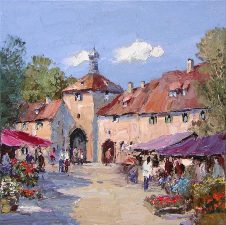 E Paulsen - 36 x 36 Terracotta Market