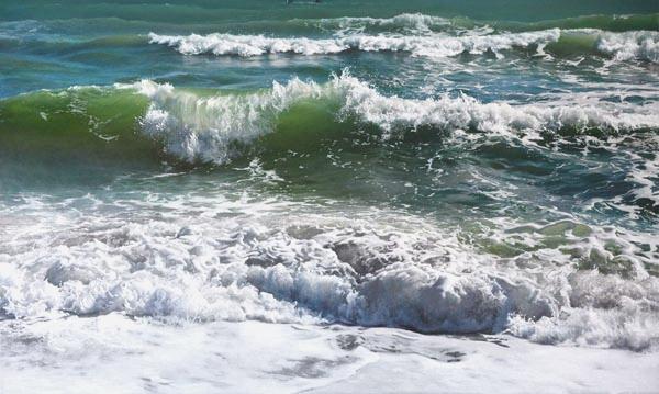 Emerald Shore by Vadim Klevenskiy - Wave Painting