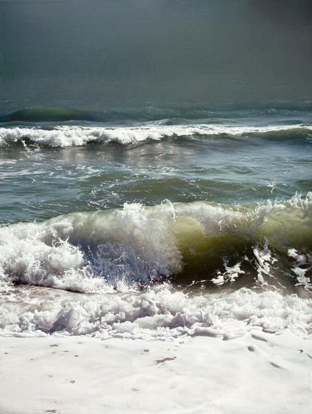 Evening Tide by Artist Vadim Klevenskiy - Wave Painting