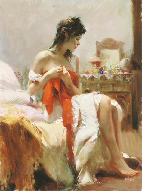 Expectations by Artist Pino Daeni Artwork