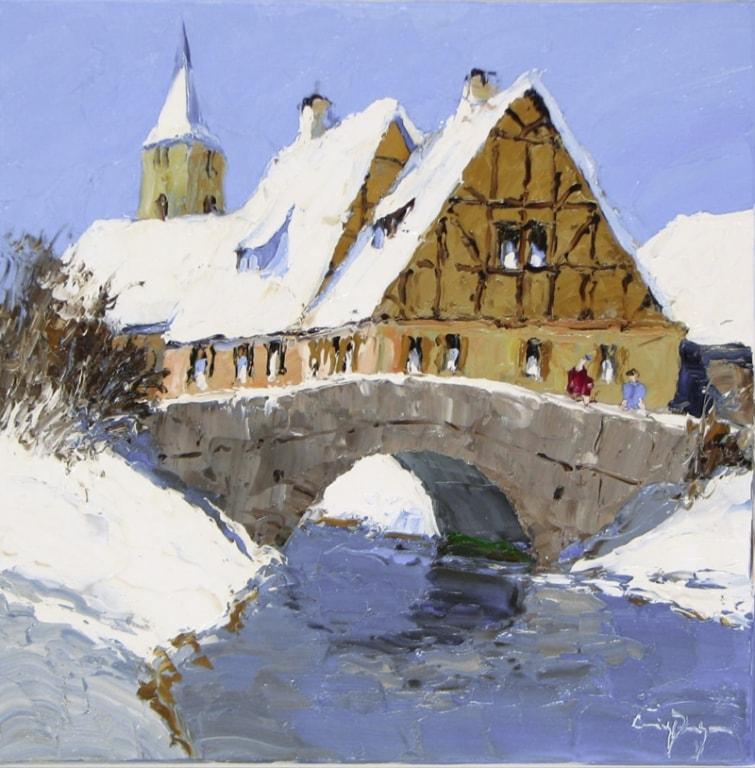 First Snow - 23 x 23 - Erich Paulsen Artist - Original Painting - Art Eric Paulsen