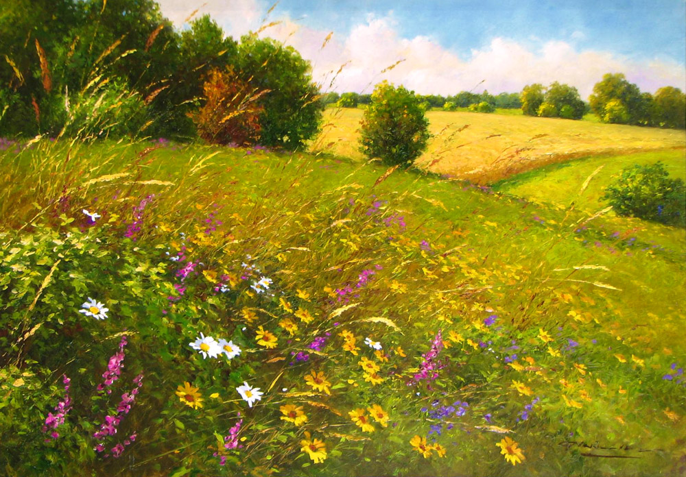 GERHARD NESVADBA ARTIST Colorful Meadow 27 39