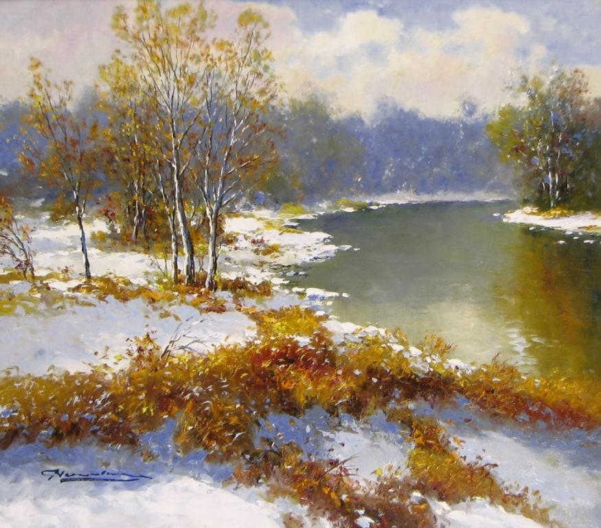 GERHARD NESVADBA ARTIST Snowy River 27 x 31