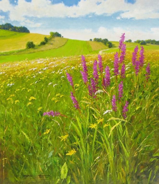 GERHARD NESVADBA ARTIST Sunny Meadow 31 x 27