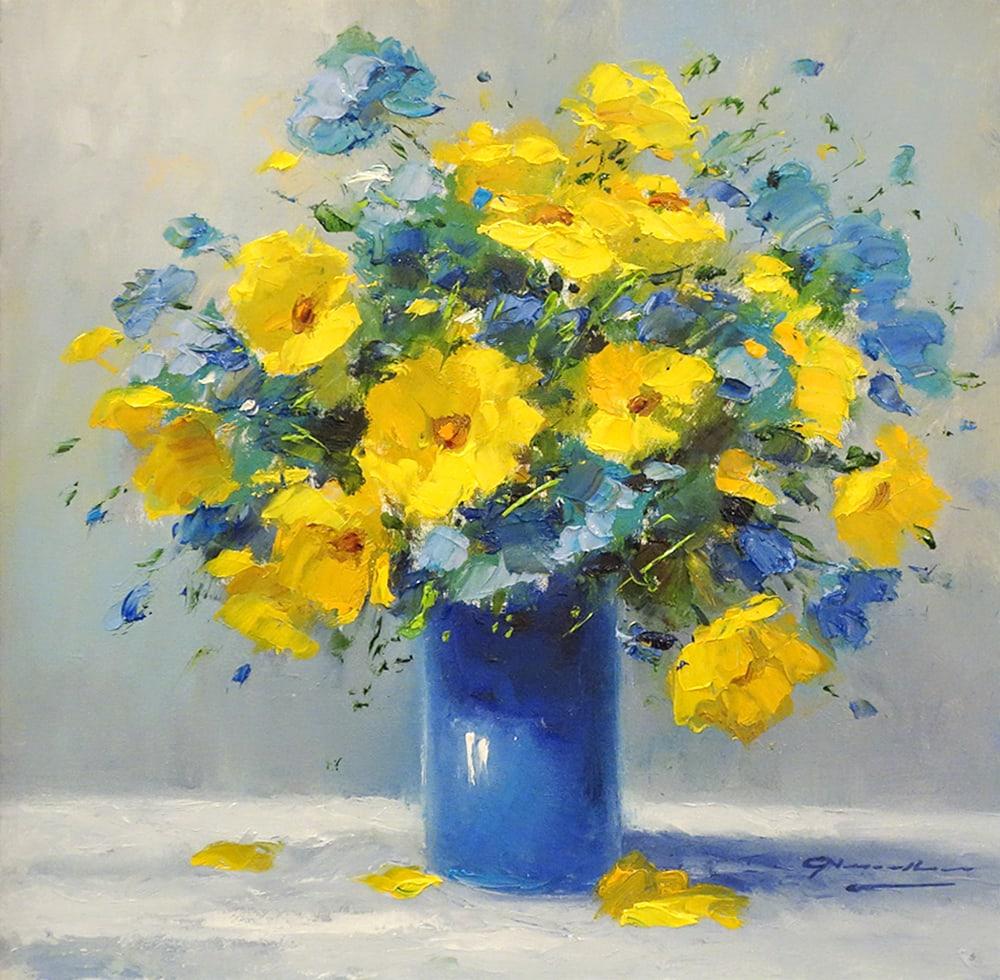 GERHARD NESVADBA - Cobalt Blue and Wildflowers