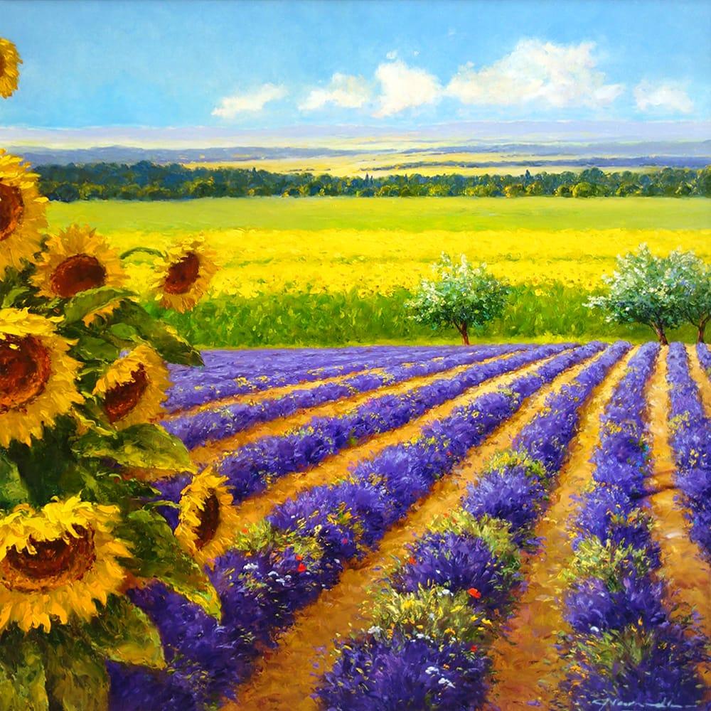 GERHARD NESVADBA Sunflowers and Lavendar