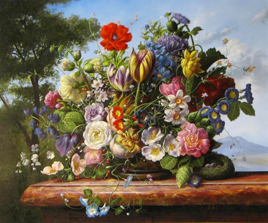 GYULA SISKA ARTIST Floral Brillance 20 x 24