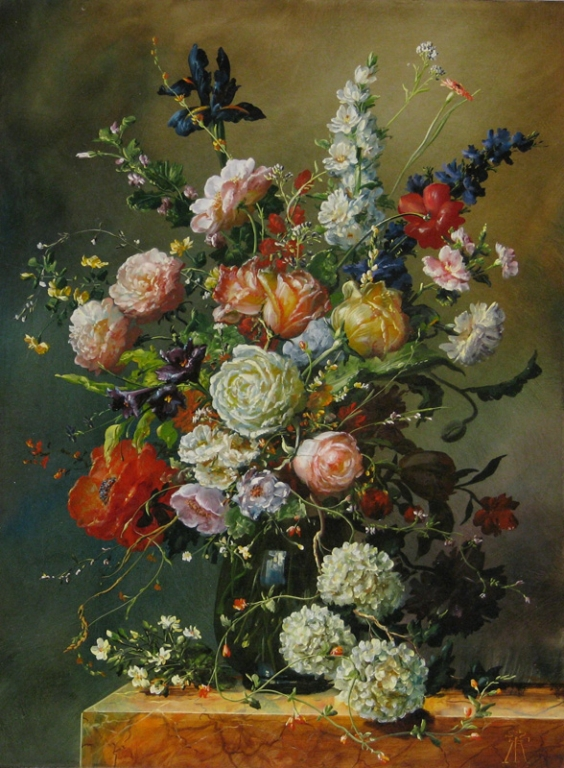 GYULA SISKA ARTIST Floral Paintings by Gyula Siska