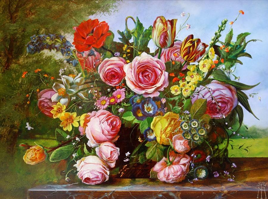 GYULA SISKA ARTIST - Rose Radiance