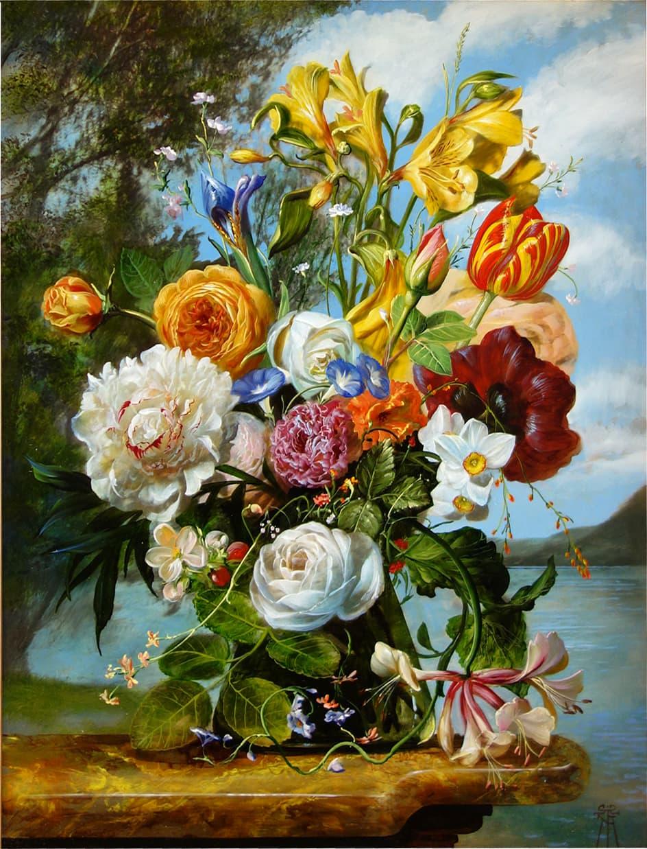 GYULA SISKA Lakeside Blossoms