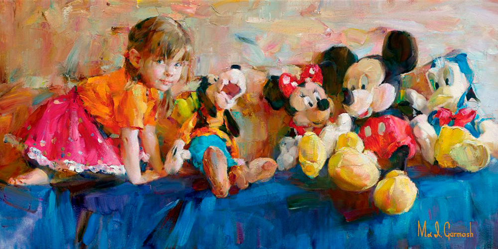 Garmash Artist - Garmash Artwork - Party of Five by Garmash