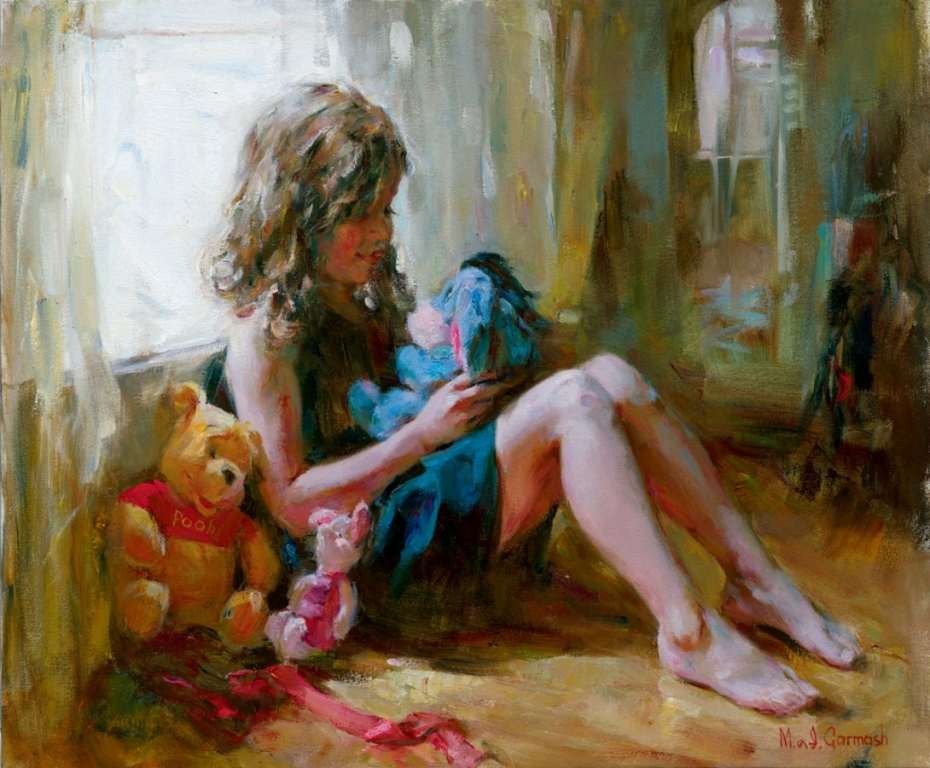 Garmash Artist - M I Garmash Artwork - Among Friends by Garmash