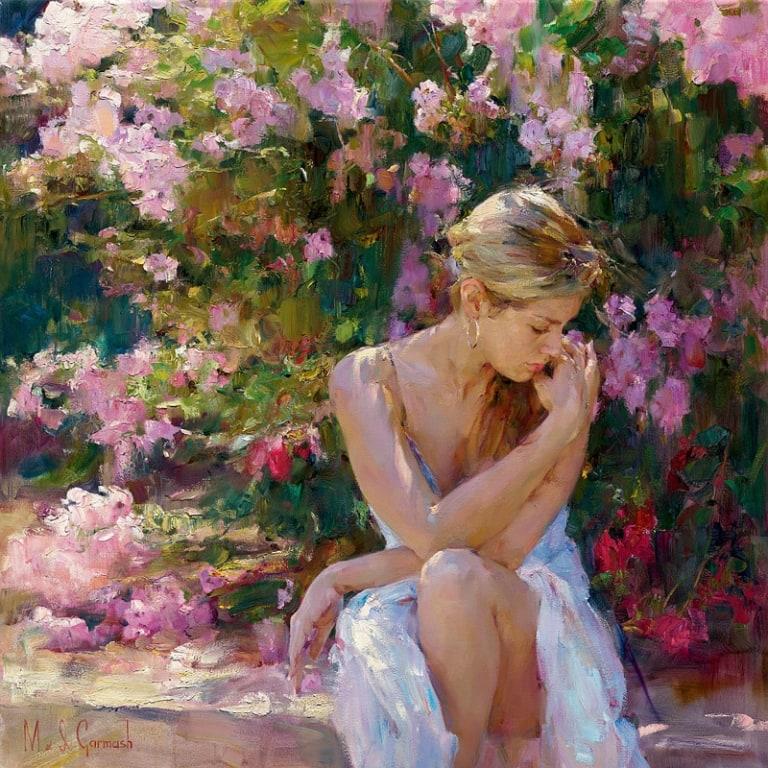 Garmash Artist - M I Garmash Artwork - Blooming Beauty by Garmash