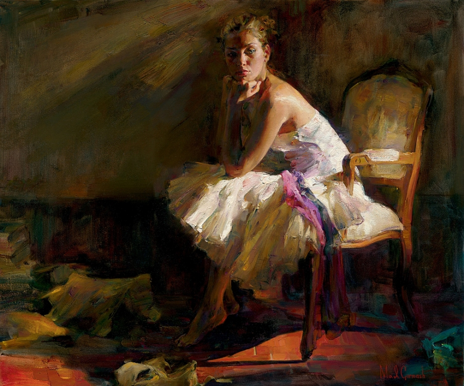 Garmash Artist - M I Garmash Artwork - Contemplation by Garmash