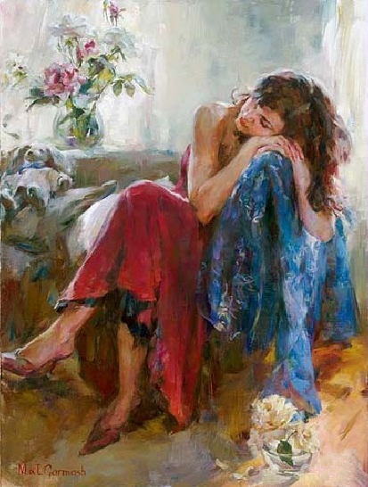 Garmash Artist - M I Garmash Artwork - Dreaming in Love by Garmash