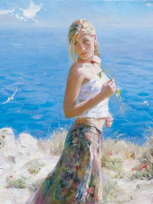 Garmash Artist - M I Garmash Artwork - Fair Beauty by Garmash
