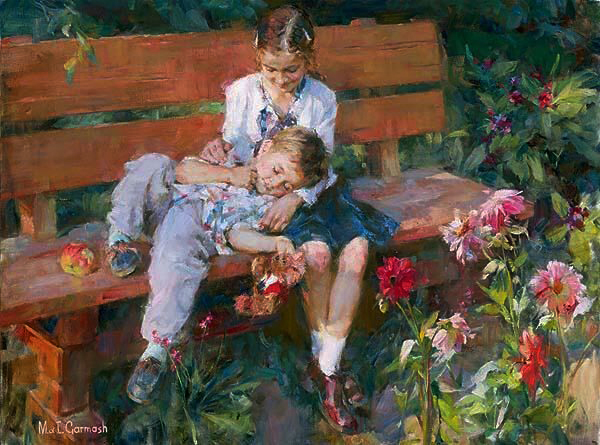 Garmash Artist - M I Garmash Artwork - Garden Treasures by Garmash