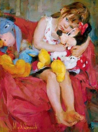 Garmash Artist - M I Garmash Artwork - Hugs for Minnie by Garmash