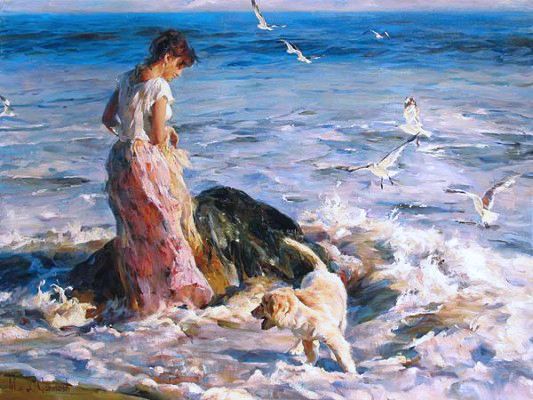 Garmash Artist - M I Garmash Artwork - Moment in the Sun by Garmash
