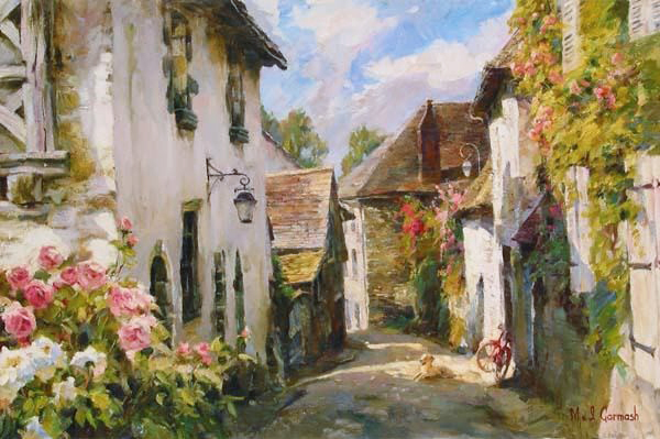 Garmash Artist - M I Garmash Artwork - Morning in Provence by Garmash