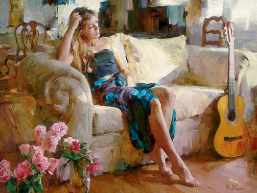 Garmash Artist - M I Garmash Artwork - Music in the Afternoon by Garmash