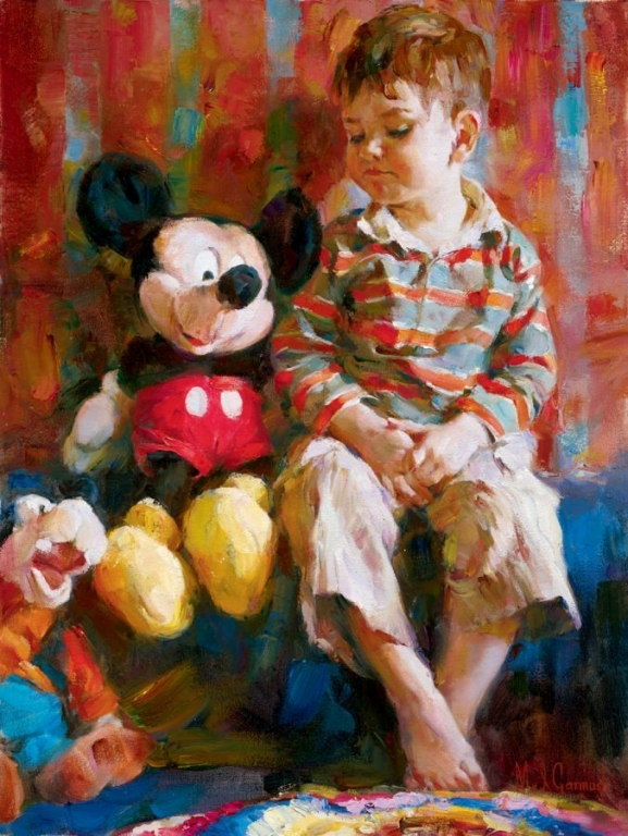 Garmash Artist - M I Garmash Artwork - Playtime Pals by Garmash