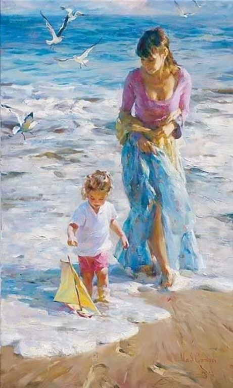 Garmash Artist - M I Garmash Artwork -Precious Moments by Garmash