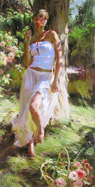 Garmash Artist - M I Garmash Artwork - Quiet Moment by Garmash