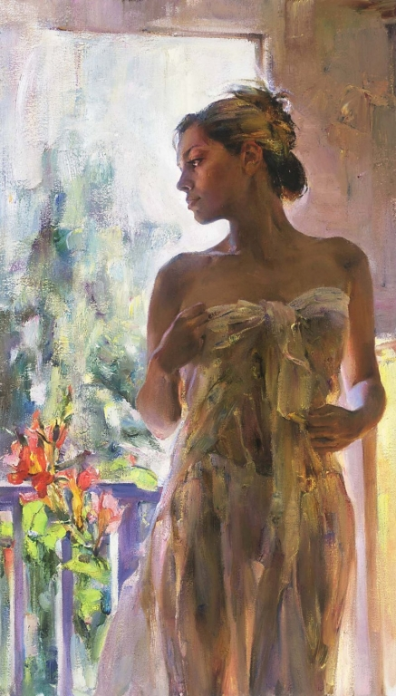 Garmash Artist - M I Garmash Artwork - Rare Beauty by Garmash