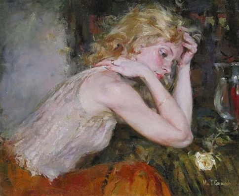 Garmash Artist - M I Garmash Artwork - Silent Thoughts by Garmash