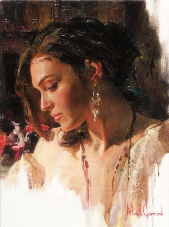 Garmash Artist - M I Garmash Artwork - Solemn Beauty by Garmash