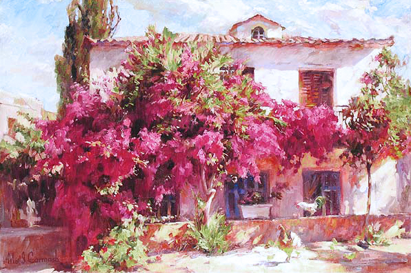 Garmash Artist - M I Garmash Artwork - Summer in the Country by Garmash