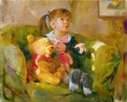 Garmash Artist - M I Garmash Artwork - Telling Stories by Garmash