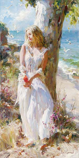 Garmash Artist - M I Garmash Artwork -Under the Evergreen by Garmash