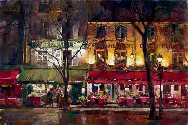 Garmash Artist - M I Garmash Artwork - Winter in Paris by Garmash