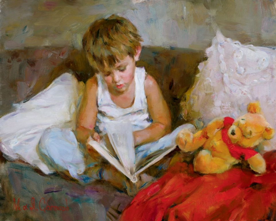 Garmash Artist - M I Garmash Artwork - Wonderful World by Garmash