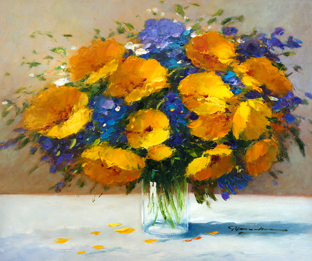 Gerhard Nesvadba Yellow and Violets