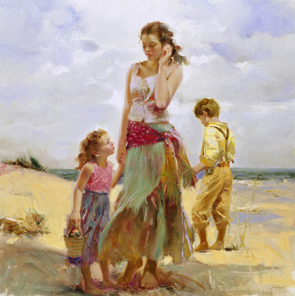Golden Afternoon by Artist Pino Daeni Artwork