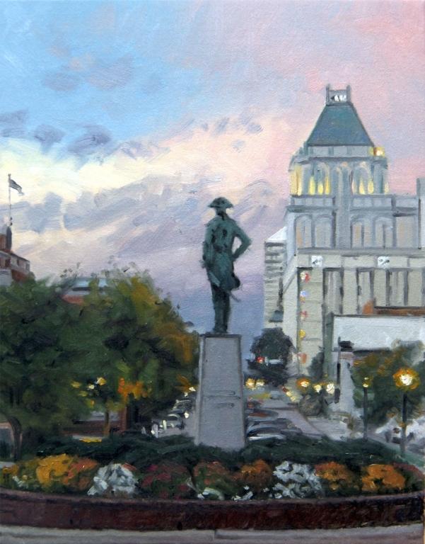 Greensboro-with-Nat-Greene-statue