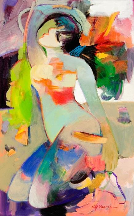 HESSAM ARTIST - Original Painting My Tulip Move