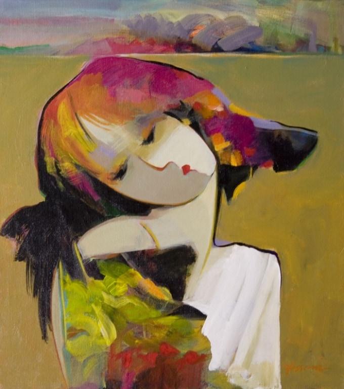 HESSAM ARTIST - Original Painting White Heart