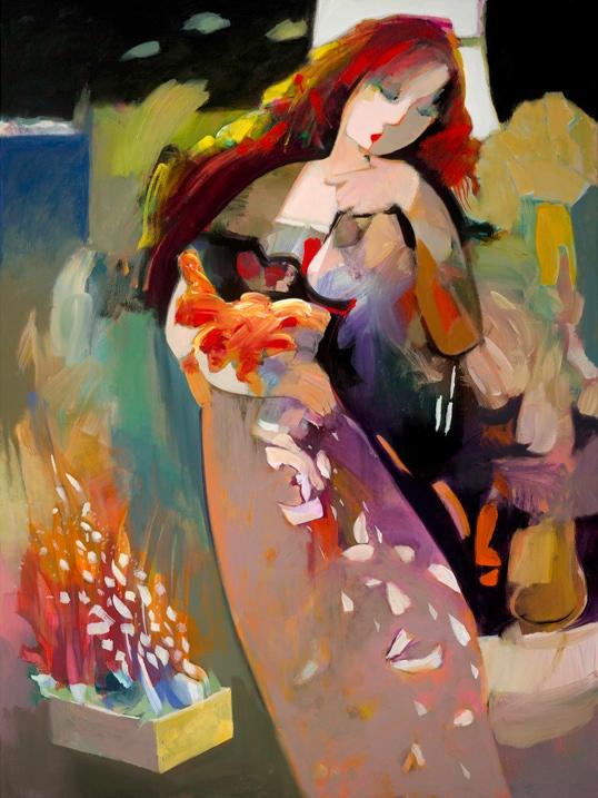 HESSAM ARTIST - White Feathers by Hessam Abrishami