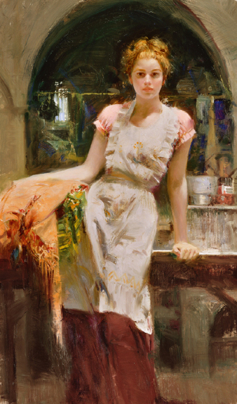 In the Glow by Artist Pino Daeni Artwork