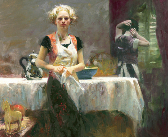 In the Late Evening by Artist Pino Daeni Artwork
