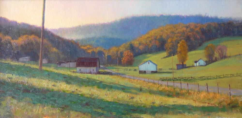 Jeremy Sams Blue Ridge Countryside 12 x 24 1300